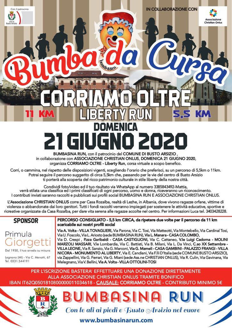 Bumba da cursa Corriamo oltre - Liberty run
