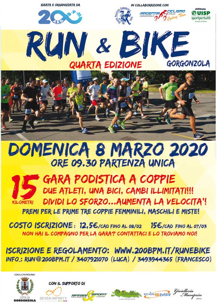 Run & Bike Gorgonzola 4^ edizione competitiva