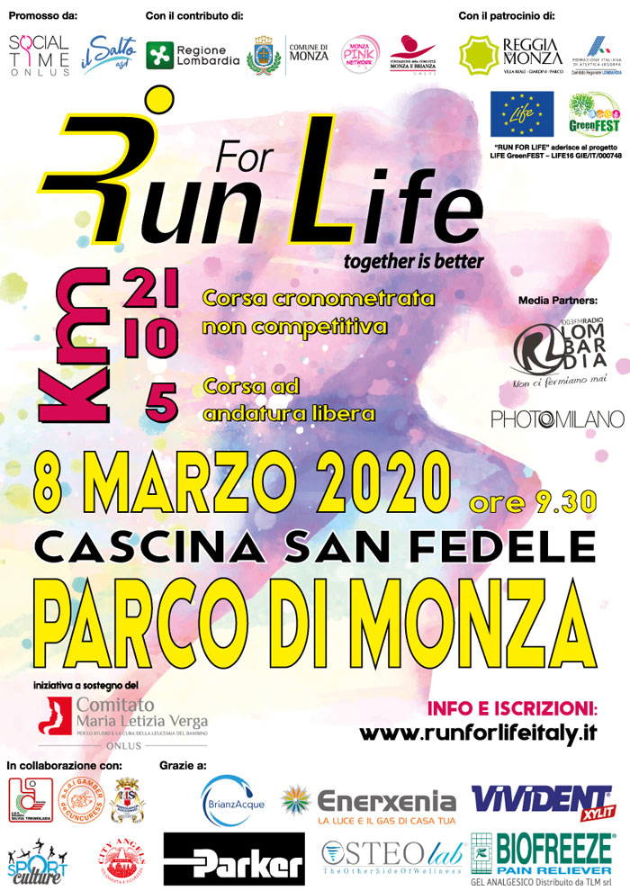 Run For Life Together is better 2020 Monza
